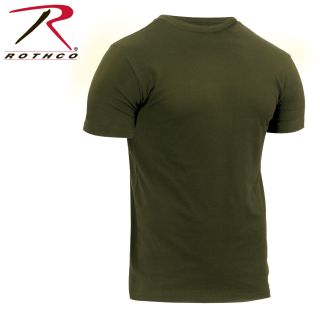 Rothco Athletic Fit Solid Color Military T-Shirt-Rothco