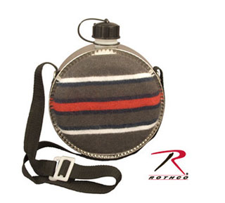 Rothco 2 Quart Striped Desert Canteen-