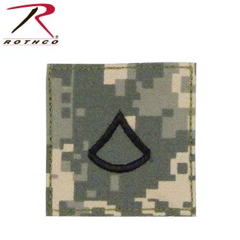 Official U.S. Made Embroidered Rank Insignia - Private 1st Class-Rothco