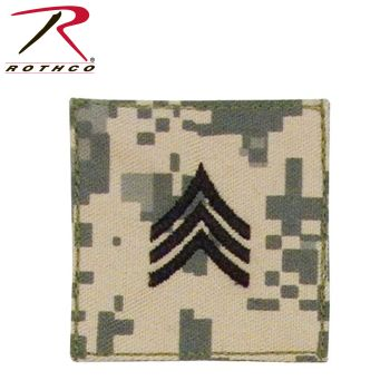 Official U.S. Made Embroidered Rank Insignia - Sergeant-Rothco