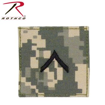 Rothco Official U.S. Made Embroidered Rank Insignia - Private-