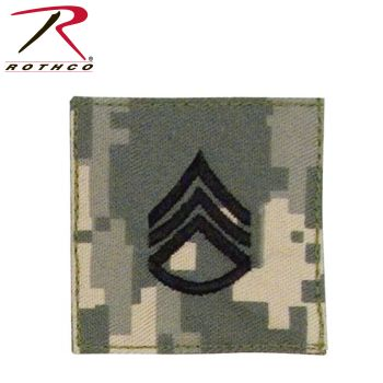 Rothco Official U.S. Made Embroidered Rank Insignia Staff Sergeant Patch-