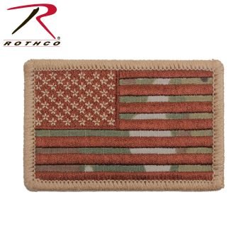 Rothco Iron On / Sew On Embroidered US Flag Patch-Rothco