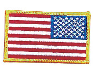 17777 Reversed U.S. Flag Patch-Rothco
