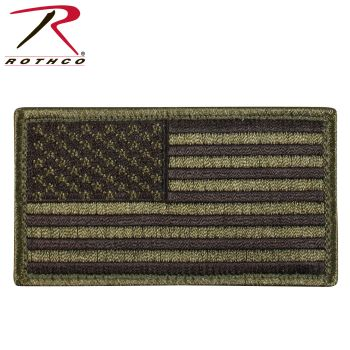 Rothco American Flag Patch - Hook Back-Rothco