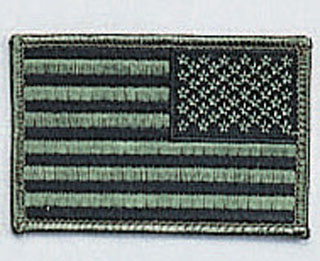 Reverse SuBDUed U S Flag Patch-Rothco
