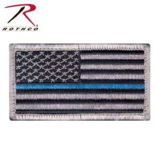 Rothco Thin Blue Line Police U.S. Flag Patch - Hook Back-