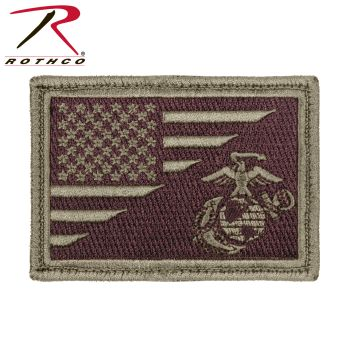 Rothco US Flag / USMC Globe and Anchor Morale Patch-