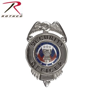 Rothco Security Officer Badge w/ Flags-