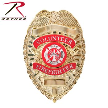 Rothco Deluxe Fire Department Badge-