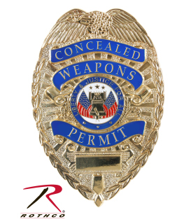 "Rothco Deluxe ""Concealed Weapons Permit"" Badge-"
