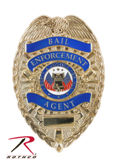 Rothco Deluxe Gold Bail Enforcement Agent Badge-