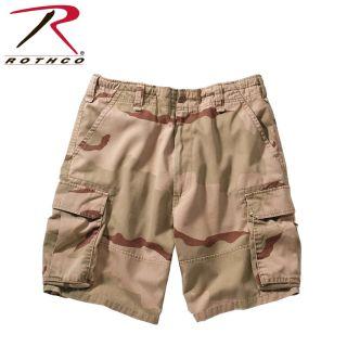 2150_Rothco Vintage Camo Paratrooper Cargo Shorts-Rothco