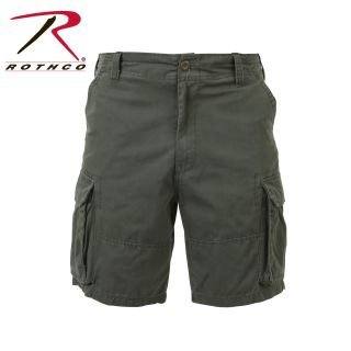 2162_Rothco Vintage Solid Paratrooper Cargo Shorts-