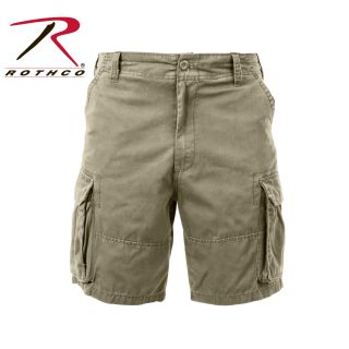 2172_Rothco Vintage Solid Paratrooper Cargo Shorts-