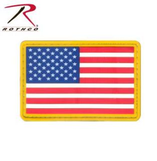 Rothco PVC US Flag Patch - Hook Back-