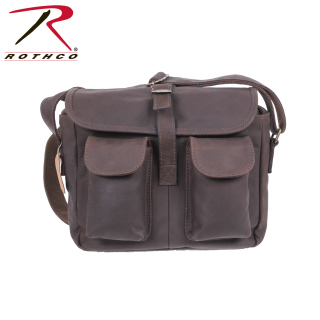 Rothco Brown Leather Ammo Shoulder Bag-