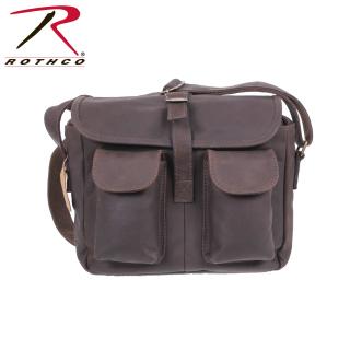 Rothco Brown Leather Ammo Shoulder Bag-Rothco