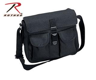 Rothco Canvas Ammo Shoulder Bag - Black