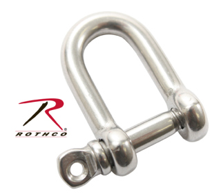 Rothco Straight D Shackle With Screw Pin-Rothco