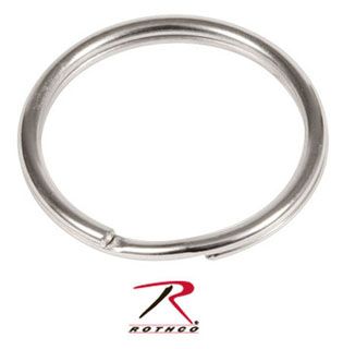 Rothco 1 Split Ring / Nickel - 50 Pack-Rothco