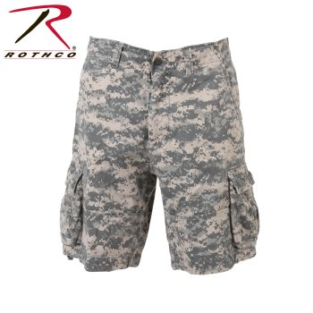 2521 Vintage Army Digital Camo Infantry Utility Shorts