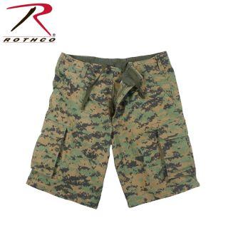 2592_Rothco Vintage Camo Paratrooper Cargo Shorts-