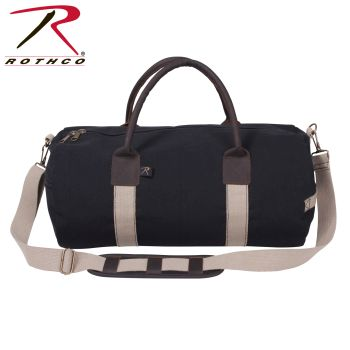 Rothco Canvas & Leather Gym Duffle Bag-