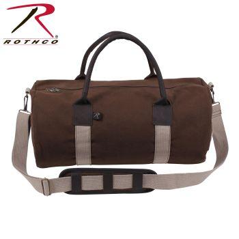 Rothco Canvas & Leather Gym Duffle Bag-Rothco