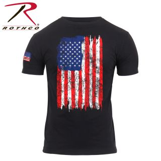 Rothco Distressed US Flag Athletic Fit T-Shirt-