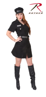 Rothco Womens Black Police Costume-