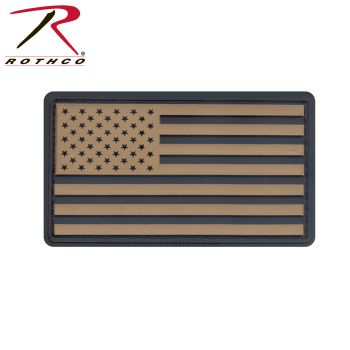 Rothco PVC US Flag Patch With Hook Back-Rothco