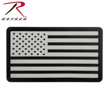 Rothco PVC US Flag Patch With Hook Back-