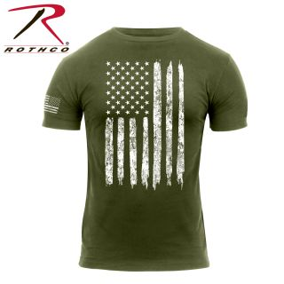 2832_Rothco Distressed US Flag Athletic Fit T-Shirt-