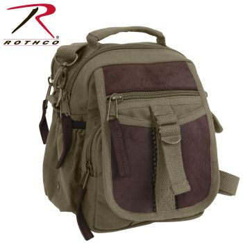 Rothco Canvas & Leather Travel Shoulder Bag-