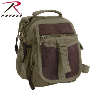 Rothco Canvas & Leather Travel Shoulder Bag-Rothco