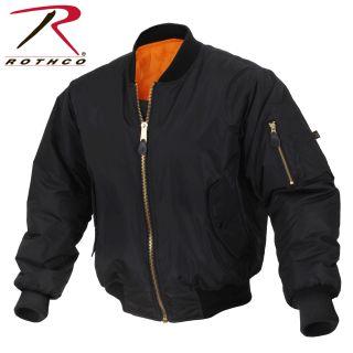 Rothco Enhanced Nylon MA-1 Flight Jacket-