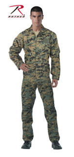 2912 Rothco Woodland Digital Camo Air Force Style Flightsuit-Rothco