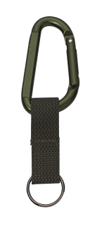 Rothco Jumbo 80MM Carabiner With Web Strap Key Ring-