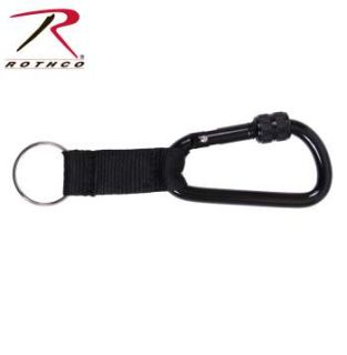Rothco 80mm Locking Carabiner With Web Strap Ring-