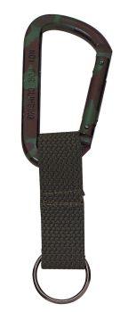 Rothco Jumbo 80MM Carabiner With Web Strap Key Ring-