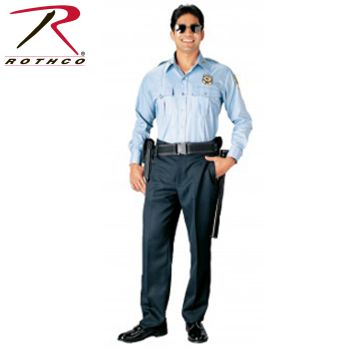 30011 Rothco Long Sleeve Uniform Shirt / Light Blue