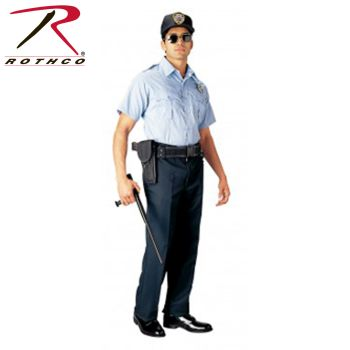 30026 Rothco Short Sleeve Uniform Shirt - Light Blue