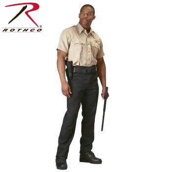 30037 Rothco Short Sleeve Uniform Shirt - Khaki-Rothco