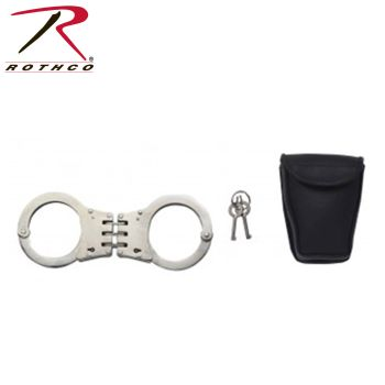 Rothco Deluxe Hinged Handcuffs / Nickel Plated-