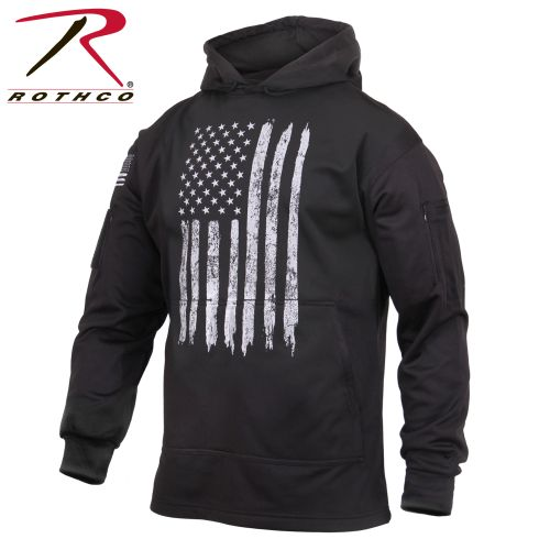 Rothco Distressed US Flag Concealed Carry Hooded Sweatshirt-