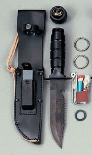 Black Survival Kit Knife