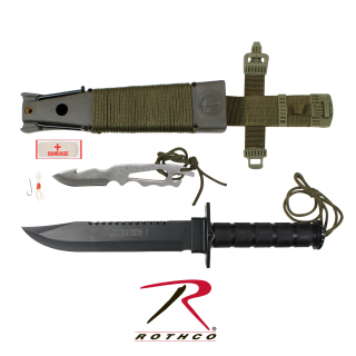 Rothco Deluxe Jungle Survival Kit Knife-