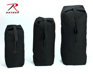 "3336 Rothco Top Load Canvas Duffle Bag / 21"" X 36"" - Black"