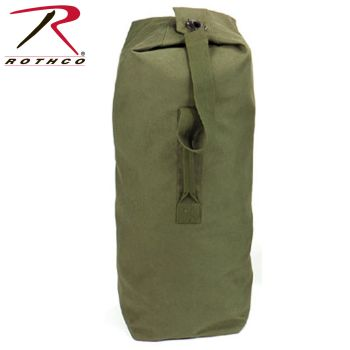 "3339 Rothco Top Load Canvas Duffle Bag / 21"" X 36"" - Olive Drab"